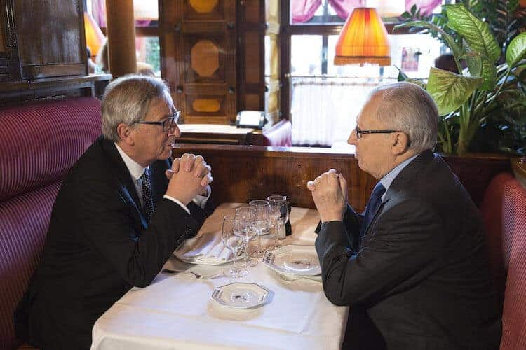 Jacques Delors (on the right), here in conversation with Jean-Claude Juncker, was key in pushing forward Social Europe. (photo © European Union, 2015), European Social Dialogue