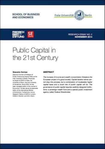 RE No. 2: Public Capital in the 21st Century