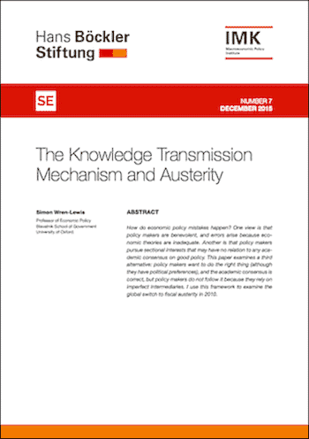 RE No. 7: The Knowledge Transmission Mechanism and Austerity