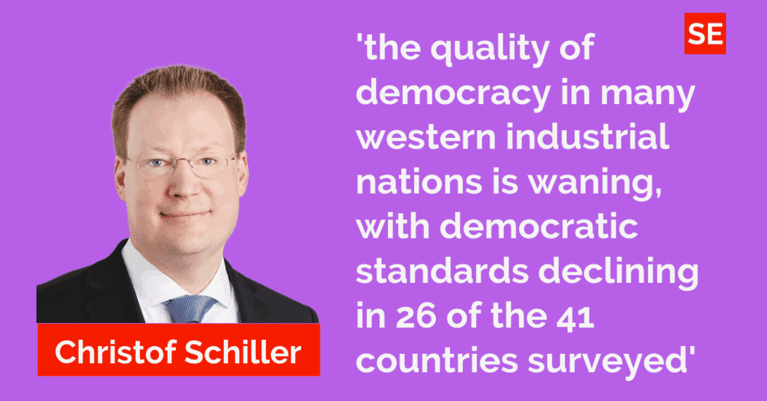 Democracy splutters—good governance under pressure