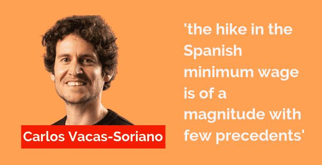 The new Spanish minimum wage