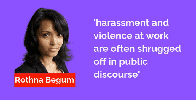 Turning the tide on violence and harassment at work